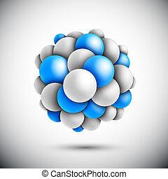 Sphäre in Form des Moleküls