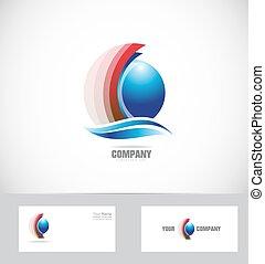 Sphere Logo Design Icon 3d.