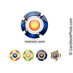 Sphere Logo Set 3d Icon.