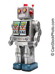 spielen roboter, zinn