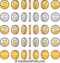 Spielmünzen Rotation eingestellt.