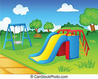 Spielplatz für Kinder.