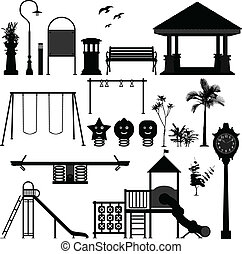 spielplatz, park, kinder, kleingarten