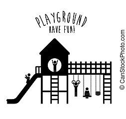 Spielplatzdesign, Vektorgrafik.
