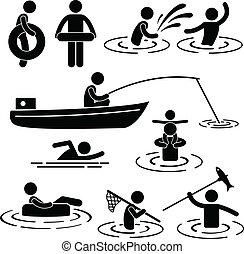 Spielt am Fluss und am Wasser