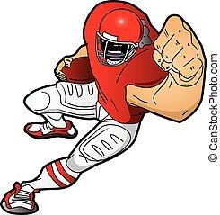 Spielt Cartoon Footballspieler.