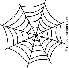 Spinnenwebkunst.