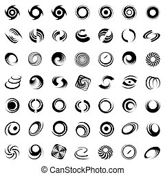 Spiralbewegung und Rotation.