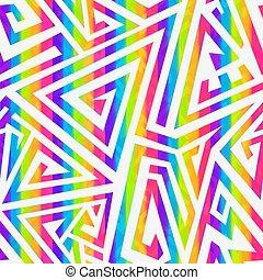 spirale, seamless, pattern., regenbogen