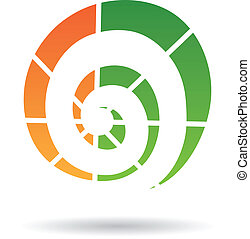 Spiralform abstraktes Icon.