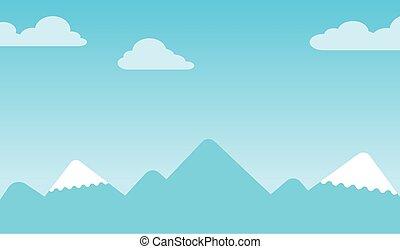 spitzen, berg, hintergrund, schneebedeckt