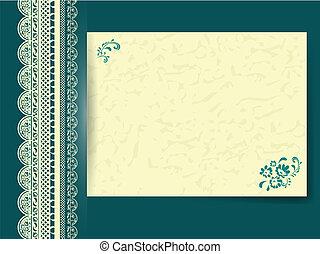 Spitzenrahmen mit Blumenblatt
