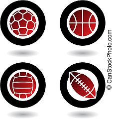 Sport-Bälle-Ikonen