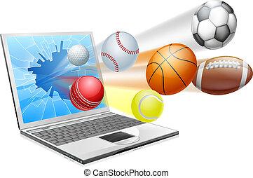 Sport-Lap-App-Konzept