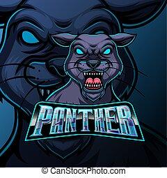 sport, panther, e, design, sport, logo, maskottchen