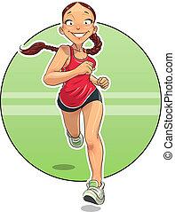 Sport. Running Girl.