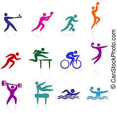 sport, sammlung, ikone