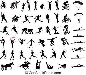 Sport-Silhouettes-Sammlung.