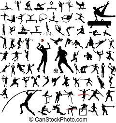 Sport-Silhouettes-Sammlung
