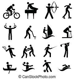 Sport und sportliche Ikonen