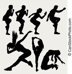 Sport und Tanz Silhouette