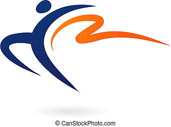 sport, -, vektor, geräteturnen, figur