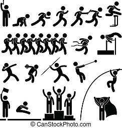 Sportfeld und Leichtathletik