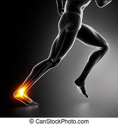 Sportfußgelenk und Achilles Absatzverletzungskonzept
