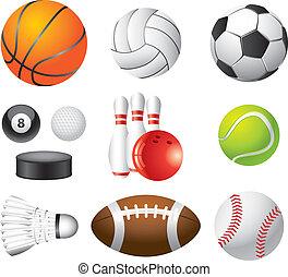 Sportkugeln photorealistische Vektorsets.