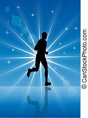 Sportler laufen