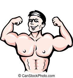 Sportler mit Muskeln