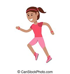 Sportlerin, die Zeichentrickfilme betreibt.