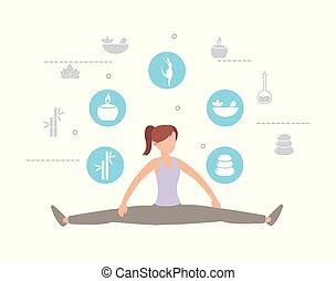 Sportlerin mit gesundem Lebensstil