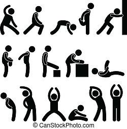 Sportliche Übungen reichen.