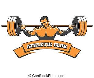 sportlicher club, emblem, powerlifting, oder