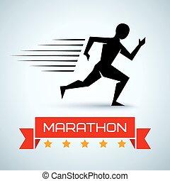 Sportlogo für eine Lauferei.