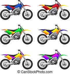 Sportmotorräder und Fahrräder.