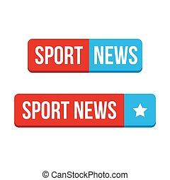 Sportnachrichtenknopfvektoren.