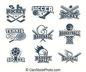 Sports monochrome Logos.