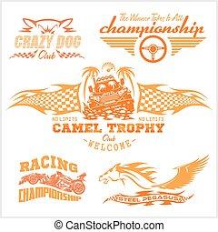 Sports Racing Emblem - Vektorset.