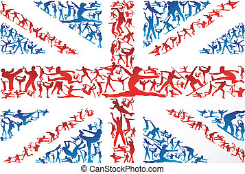 Sports Silhouettes UK Flagge