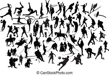 Sportsilhouette. Vektor Illustration