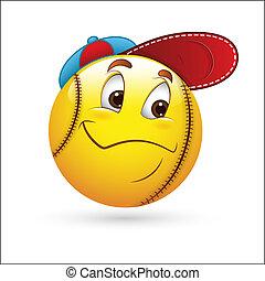 Sporty Smiley Emoticon Face Vektor
