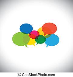 Sprachblasen-Icons oder Chat-Signale - Kommunikations-Vektorkonzept