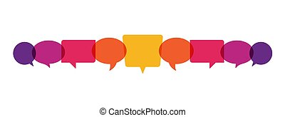 sprechblasen, begriff, abbildung, vektor, kommunikation