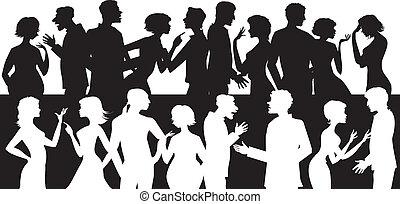 sprechende , personengruppe