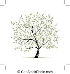 Spring Baum grün für dein Design.