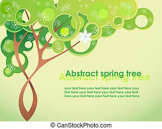 Springbaum mit Blumen absetzen