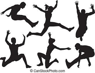 springen, langer