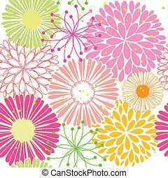 Springtime farbenfrohe Blume nahtlos